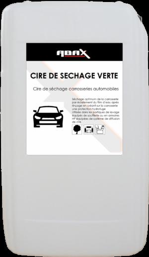 ABAX 047825 - CIRE DE SECHAGE VERTE - Bidon plastique de 25 L