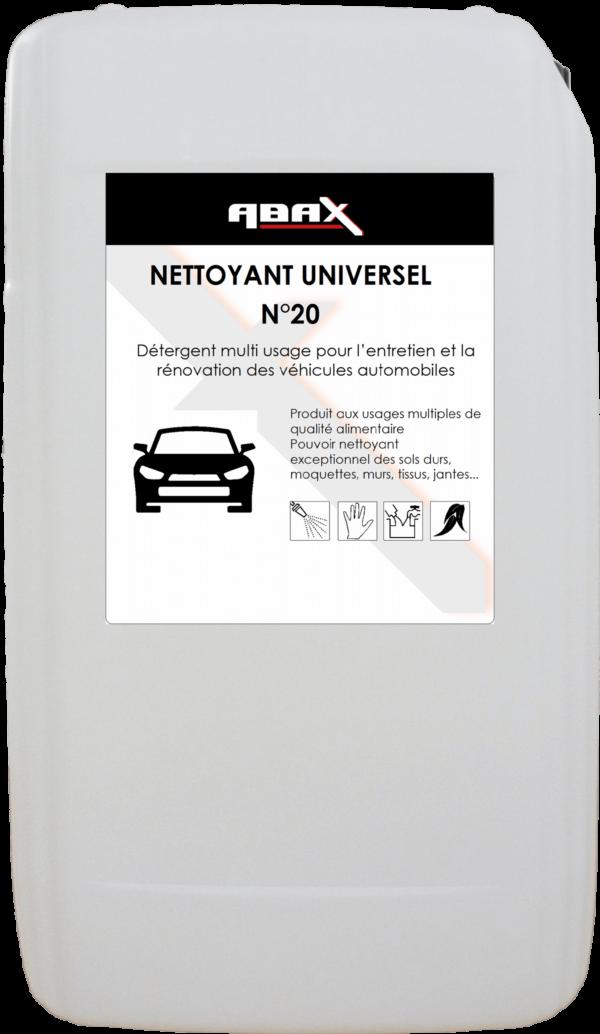 ABAX 057325 - NETTOYANT UNIVERSEL N° 20 - Bidon plastique de 25 L