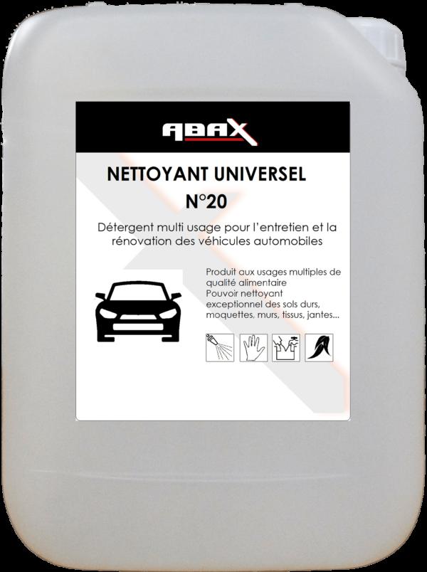 ABAX 05735 - NETTOYANT UNIVERSEL N° 20 - Bidon plastique de 5 L