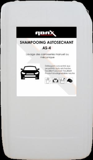 ABAX 061120 - SHAMPOOING AUTO SECHANT AS4 - Bidon plastique de 20 L