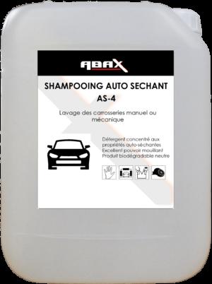 ABAX 06115 - SHAMPOOING AUTO SECHANT AS4 - Bidon plastique de 5 L