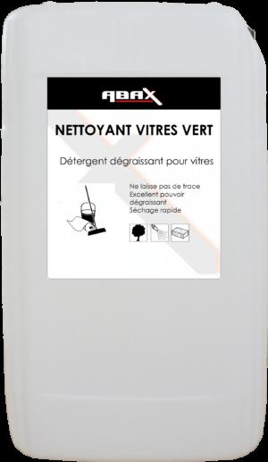 ABAX 075025 - NETTOYANT VITRES VERT - Bidon plastique de 25 L