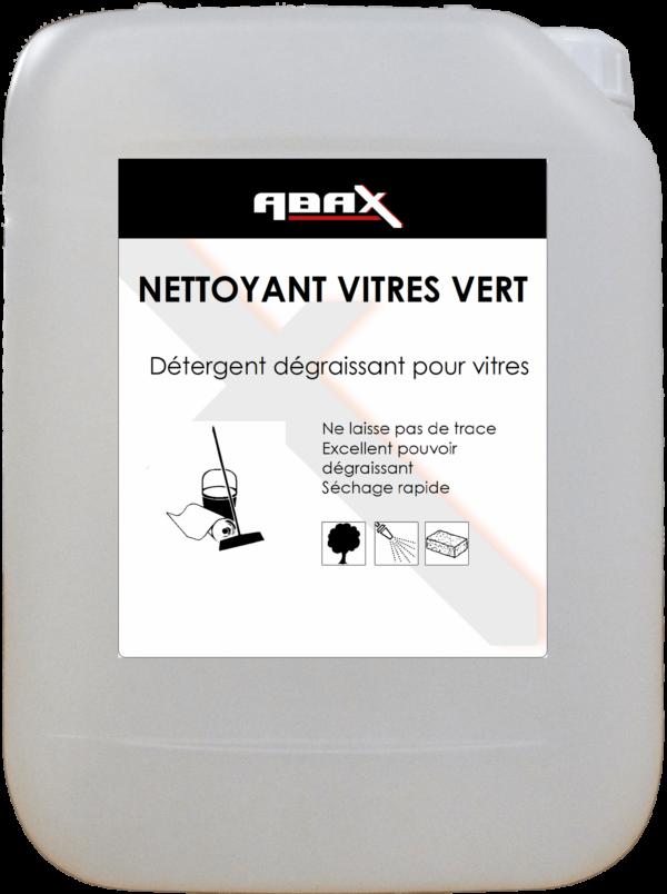ABAX 07505 - NETTOYANT VITRES VERT - Bidon plastique de 5 L