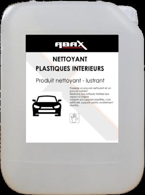 ABAX 08185 - NETTOYANT LUSTRANT PLASTIQUES INTERIEURS ET SIMILI-CUIR - Bidon plastique de 5 L